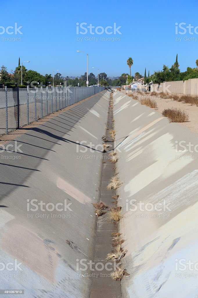 Storm Drain Semi Wet Vertical stock photo