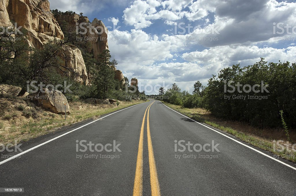 Storm Gathering on Mountain Road royalty-free stock photo