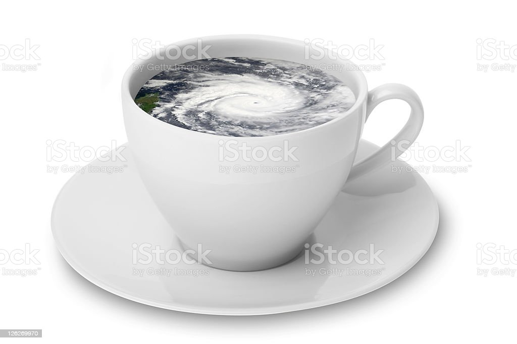 Storm In A Teacup (With Path) stock photo