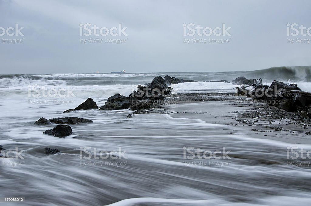 Storm in Black Sea royalty-free stock photo