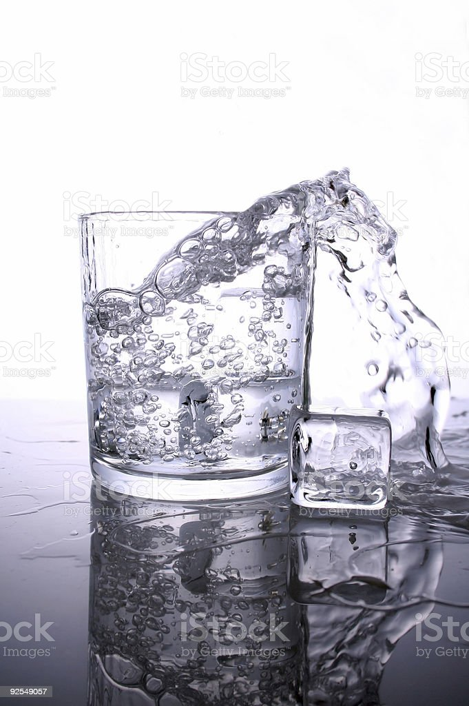 Storm in glass of water royalty-free stock photo