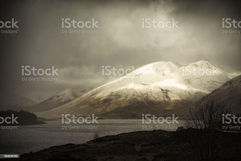Storm In Glen Shiel royalty-free stock photo