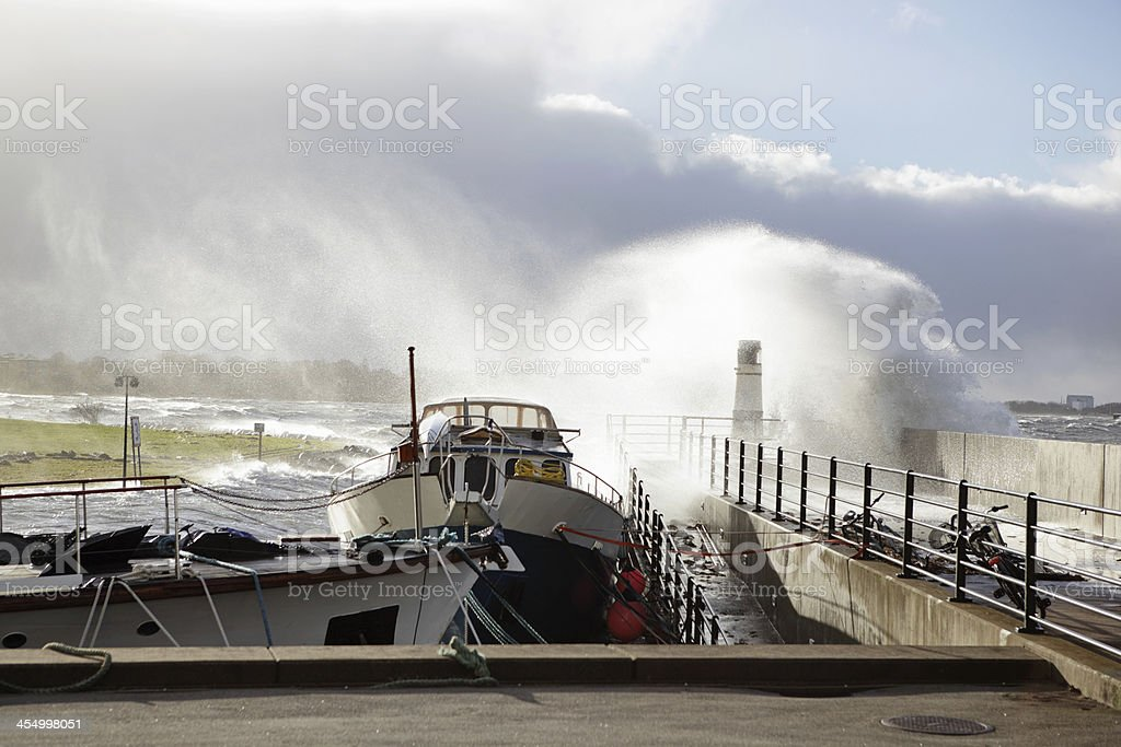Storm in Malmo stock photo