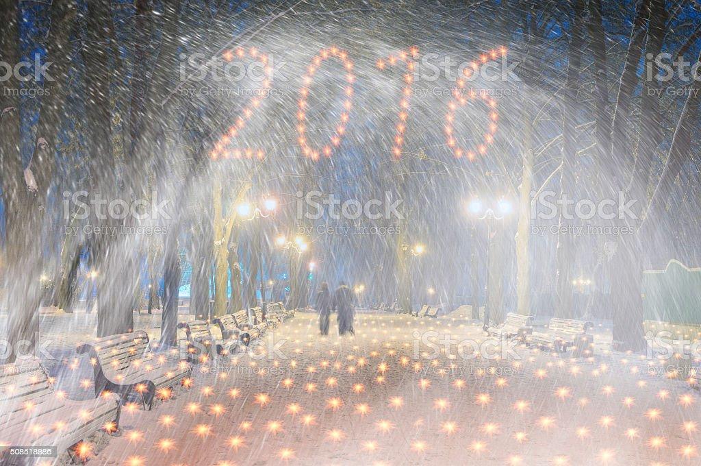 Storm in Mariinsky Park stock photo