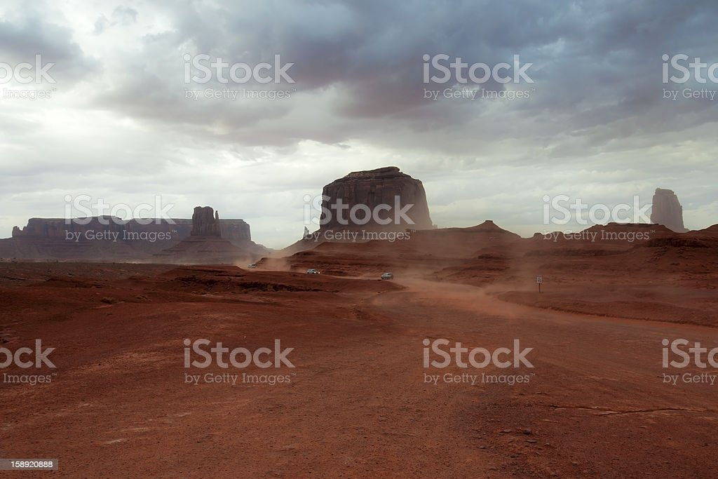 Storm in Monument Valley royalty-free stock photo