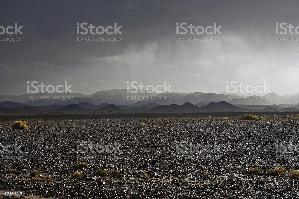Storm in Moroccan Desert Africa royalty-free stock photo