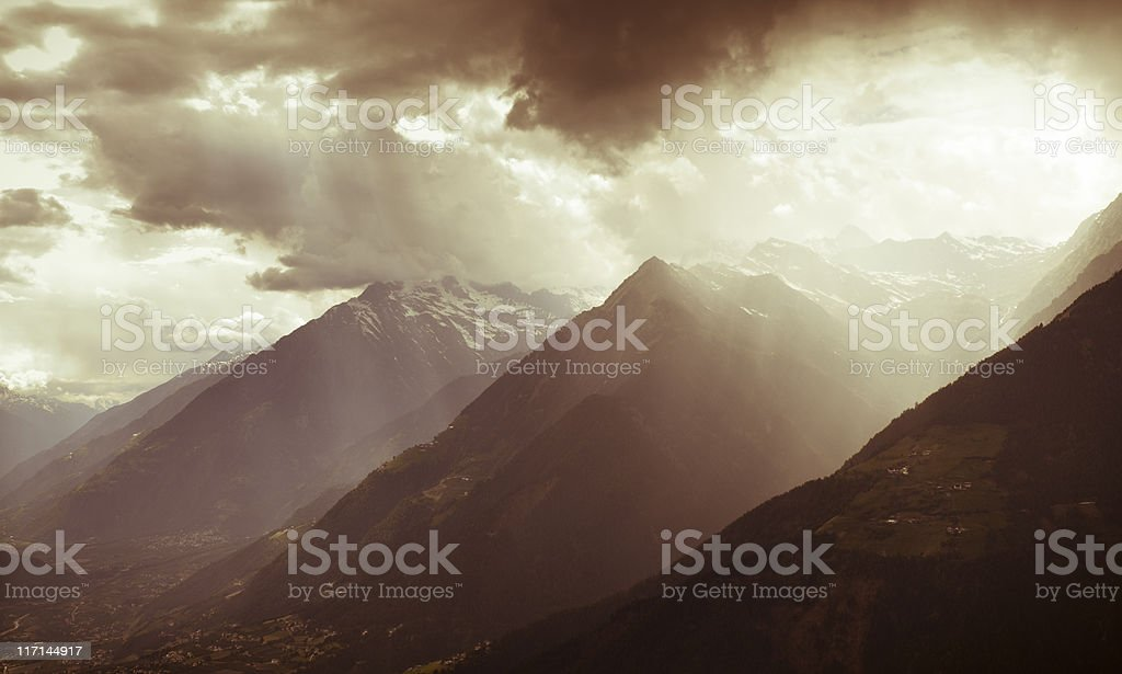 Storm in the Alps royalty-free stock photo