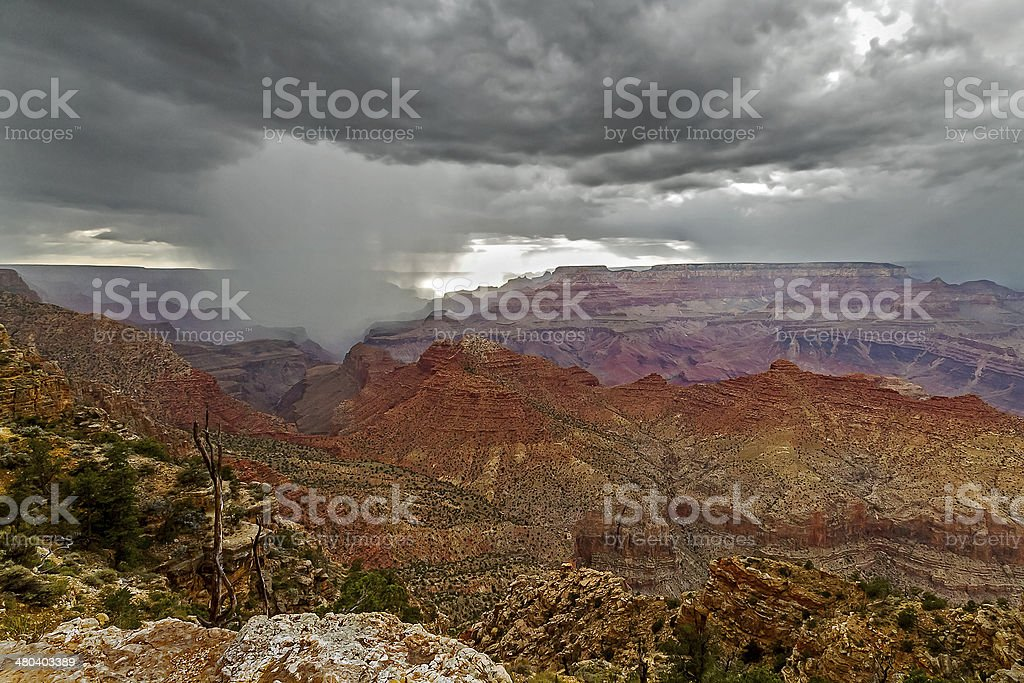 Storm in the Grand Canyon stock photo