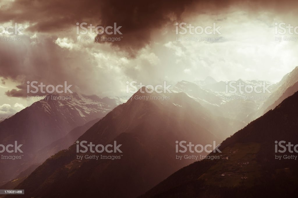 Storm in the mountains royalty-free stock photo