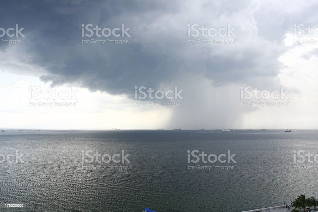 Storm In the Sea royalty-free stock photo
