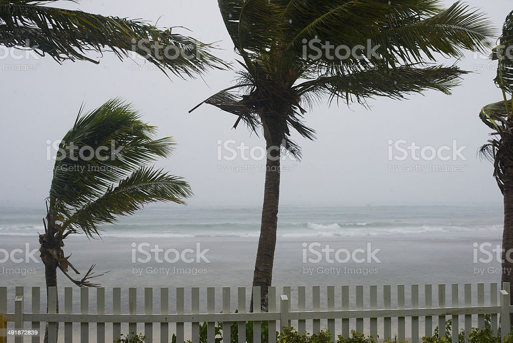 Storm in the Yasawa Islands stock photo