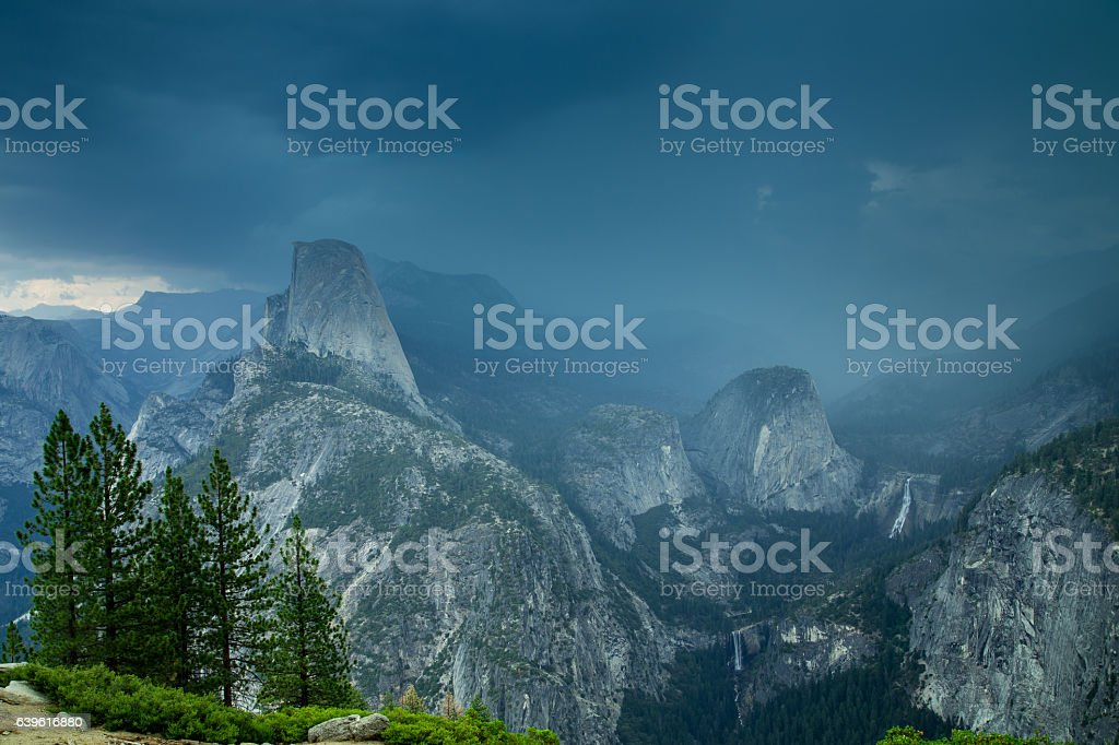 Storm in Yosemite from Washburn Point stock photo