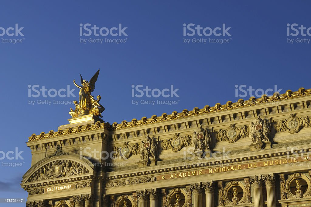 Storm is coming on Paris stock photo
