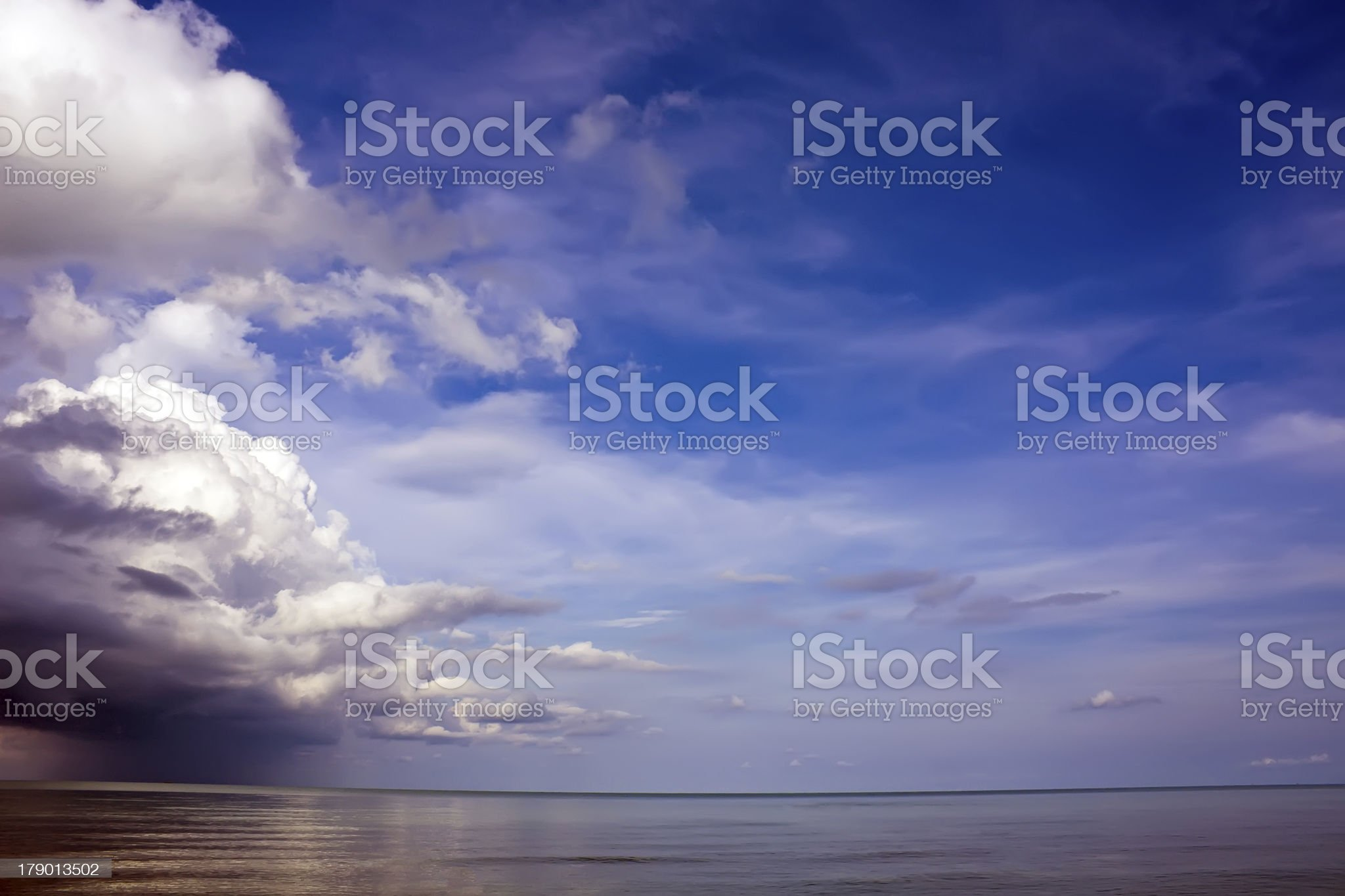 Storm is coming to the sea royalty-free stock photo