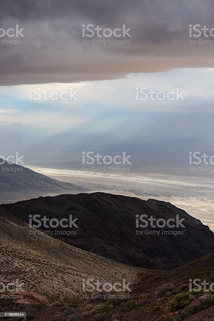 Storm Moves Into Death Valley California stock photo