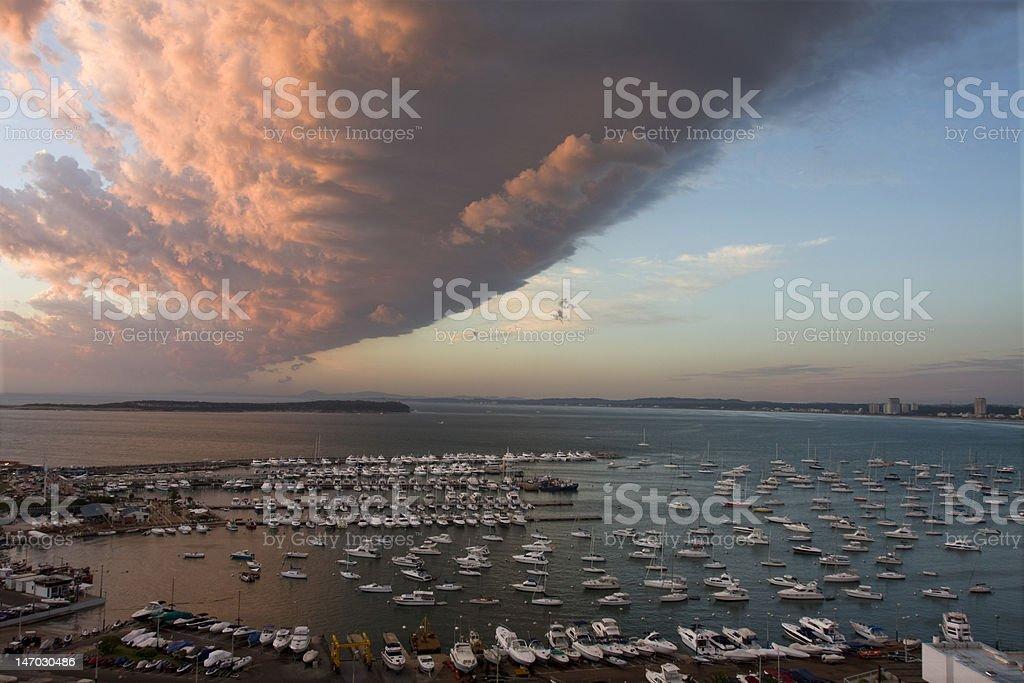 Storm near Punta del Este stock photo