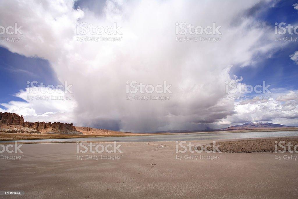 Storm near Salar de Tara - Atacama, Chile royalty-free stock photo