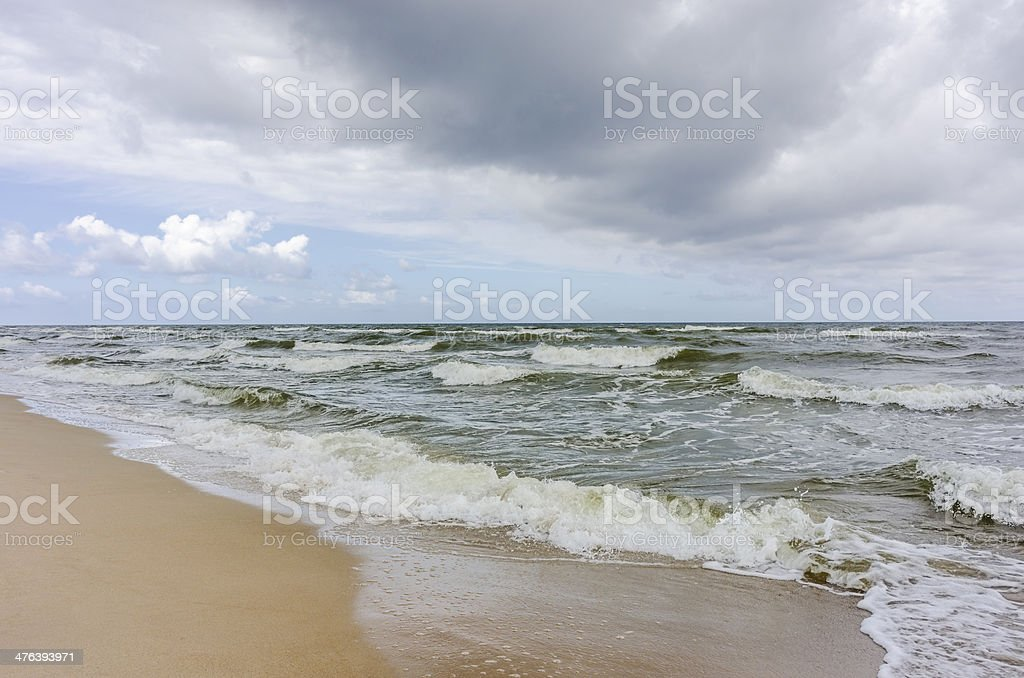 Storm on Baltic Sea. royalty-free stock photo