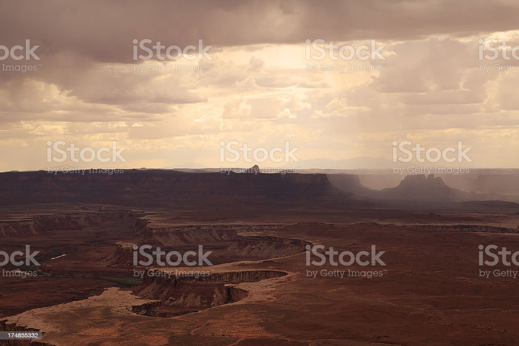 Storm on Canyonlands National Park royalty-free stock photo