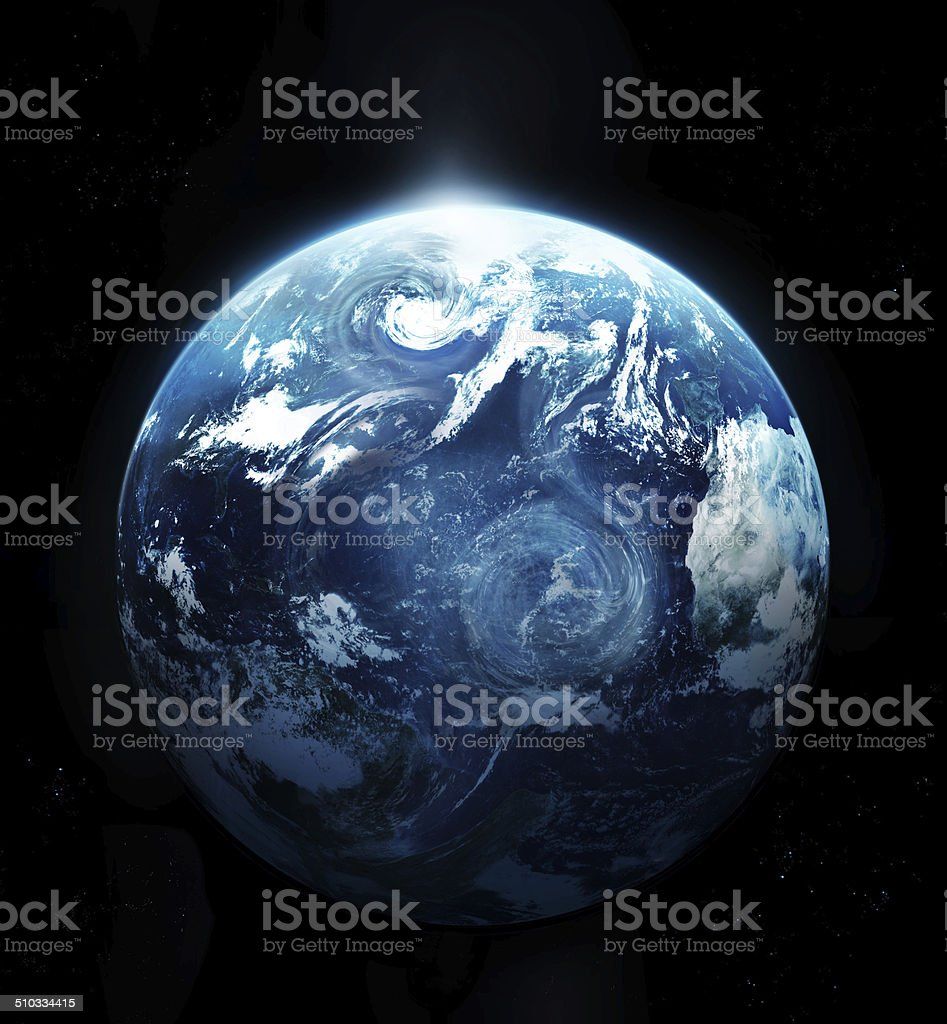 Storm on the planet earth - Original image from NASA stock photo