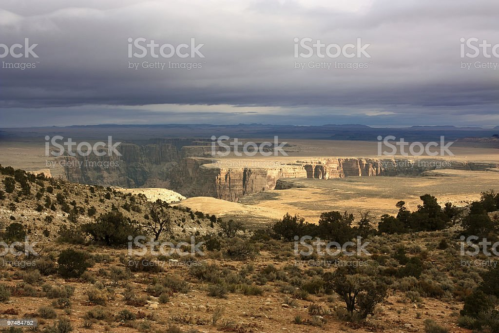 Storm on the rim royalty-free stock photo