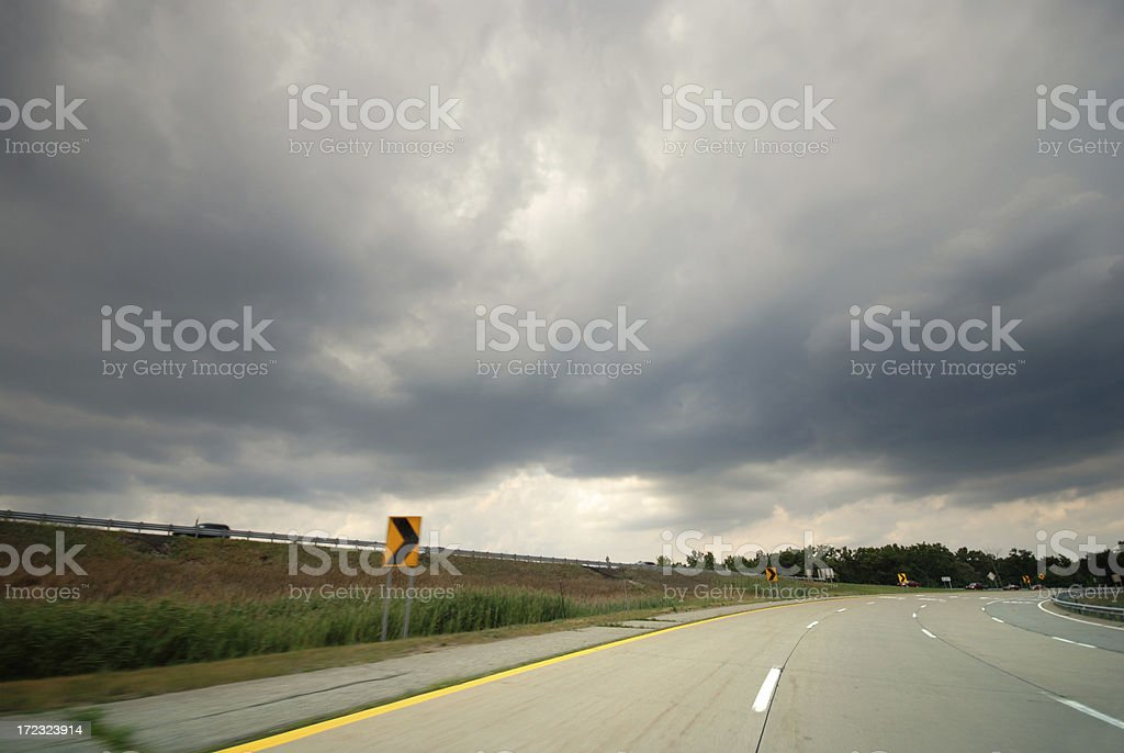 Storm on the Road. royalty-free stock photo