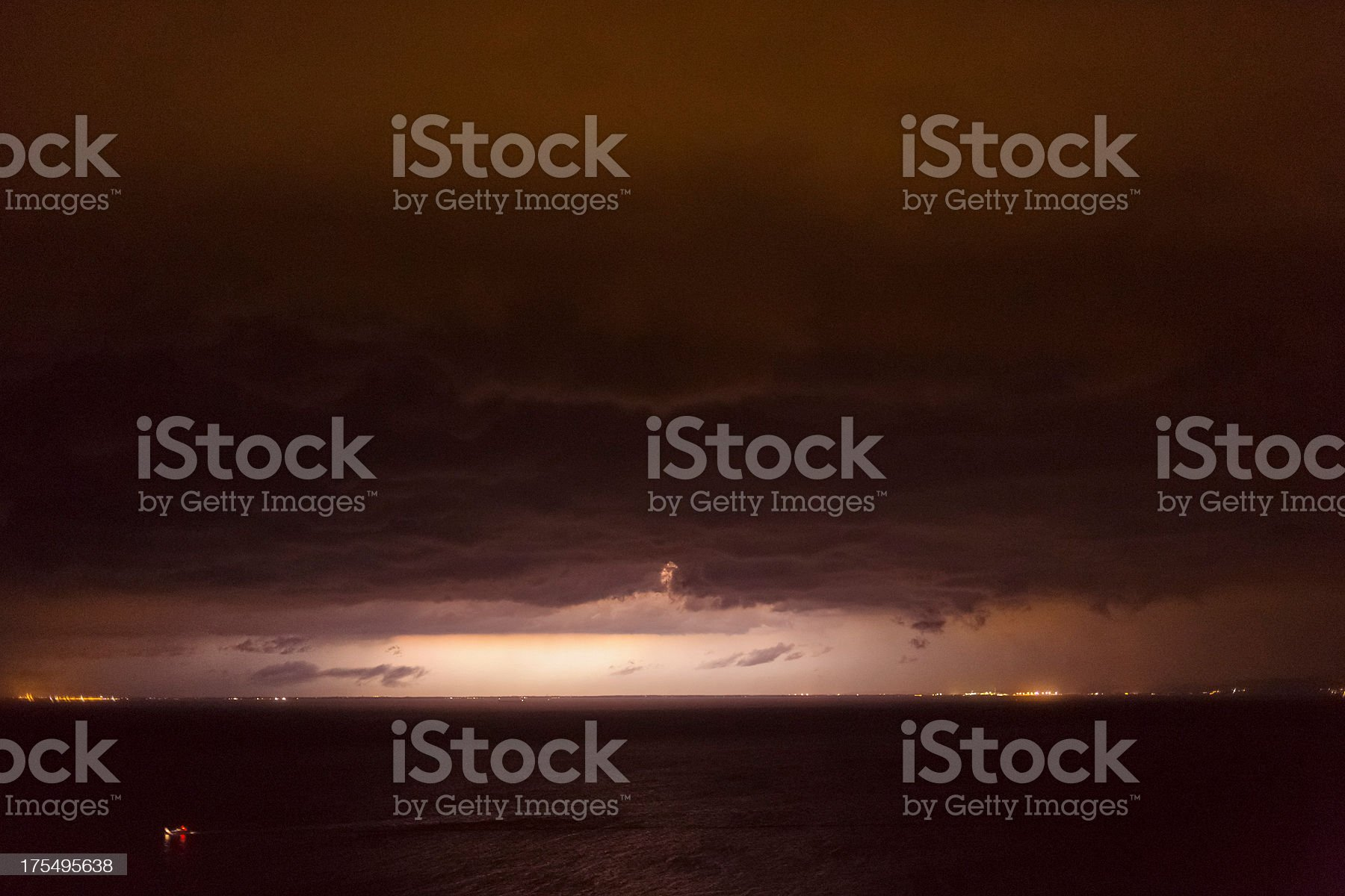 Storm over Adriatic sea royalty-free stock photo