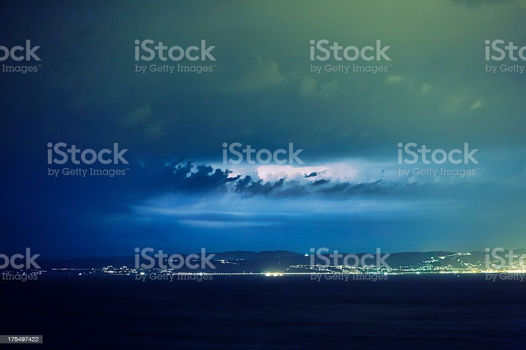 Storm over Adriatic sea royalty-free stock photo