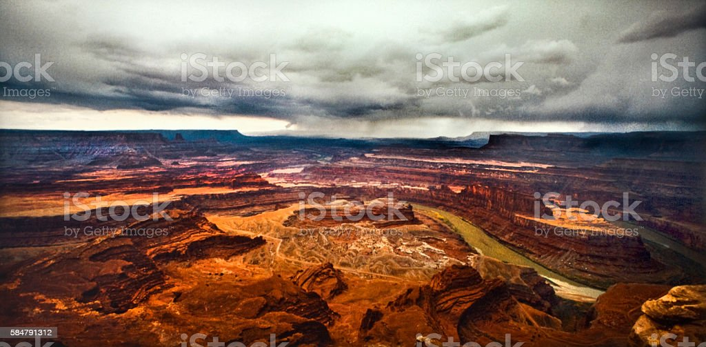 Storm over Dead Horse Point State Park, UT stock photo