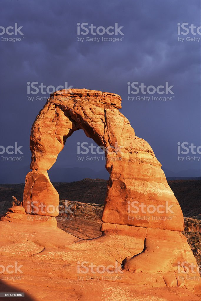 Storm over Delicate Arch royalty-free stock photo