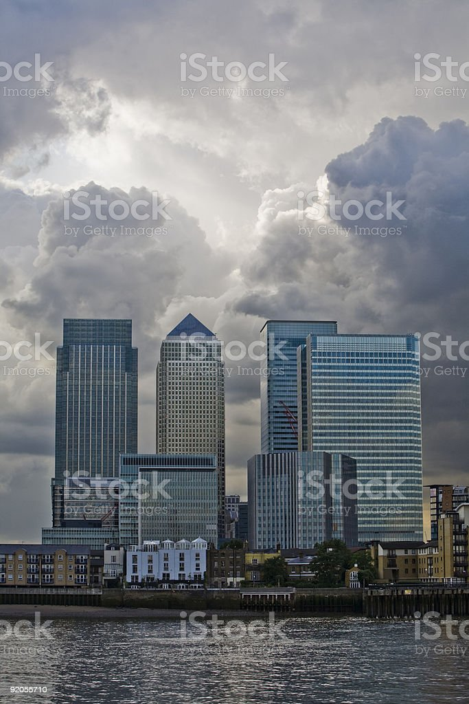 Storm over finance royalty-free stock photo