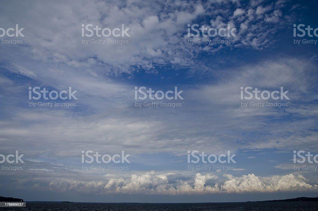 Storm over Georgian Bay, Lake Huron, Canada royalty-free stock photo