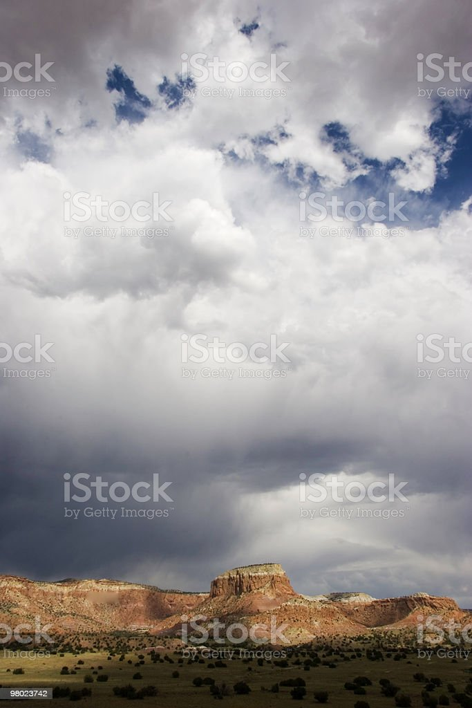 Storm Over Ghost Ranch stock photo