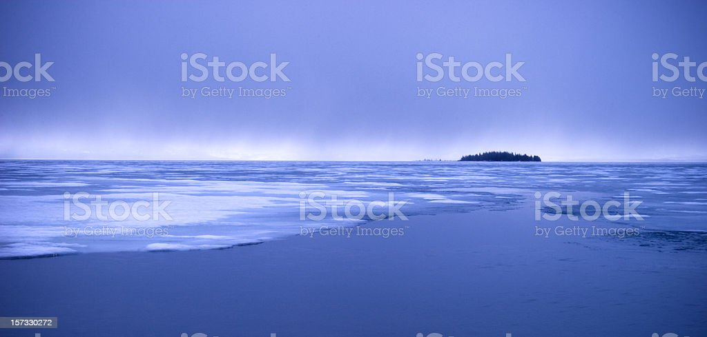 Storm over Ice and Water royalty-free stock photo
