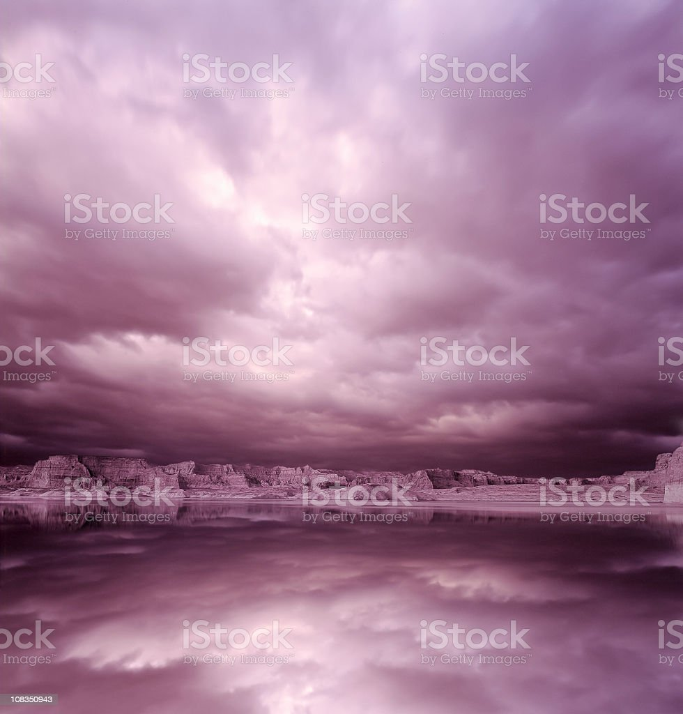 Storm over Mirror Lake royalty-free stock photo