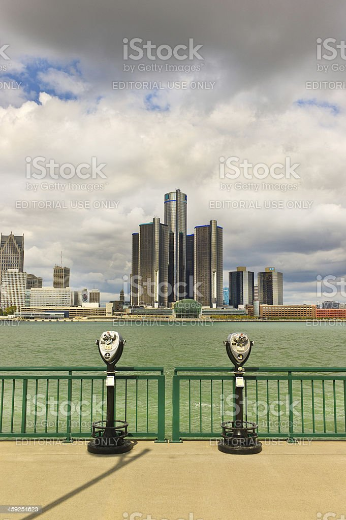 Storm over Motor City royalty-free stock photo
