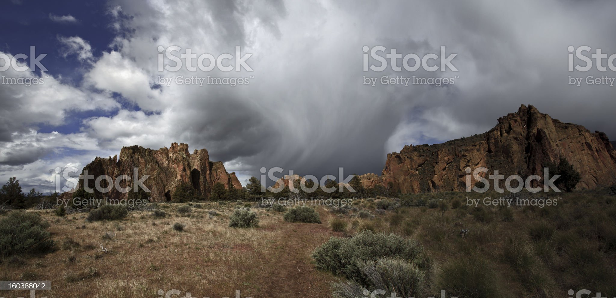Storm over Smith Rock royalty-free stock photo