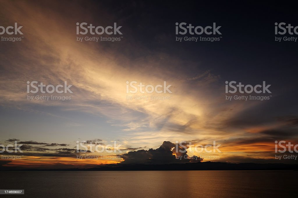Storm Over the Congo stock photo