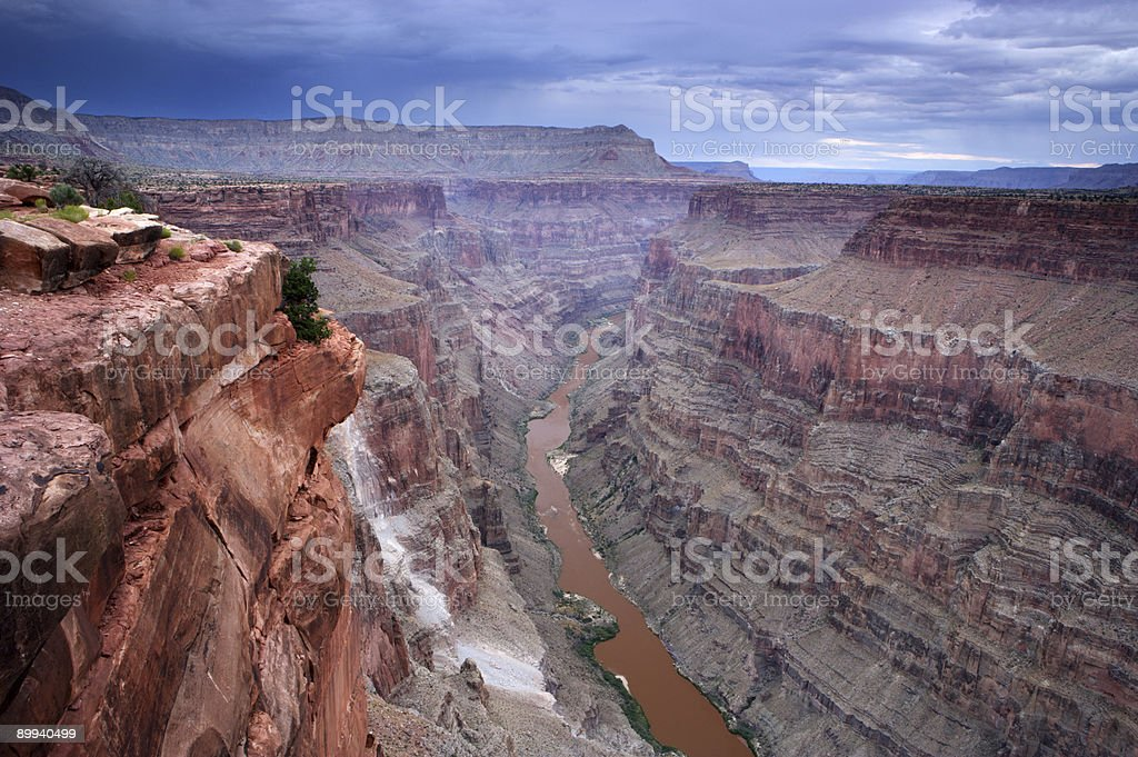 Storm over the Grand Canyon royalty-free stock photo
