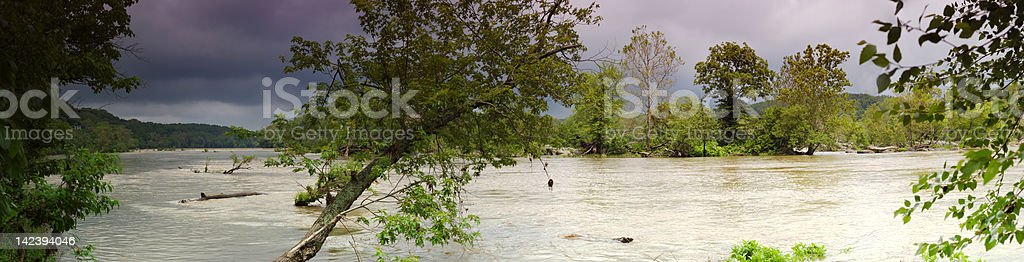 Storm over the Potomac royalty-free stock photo