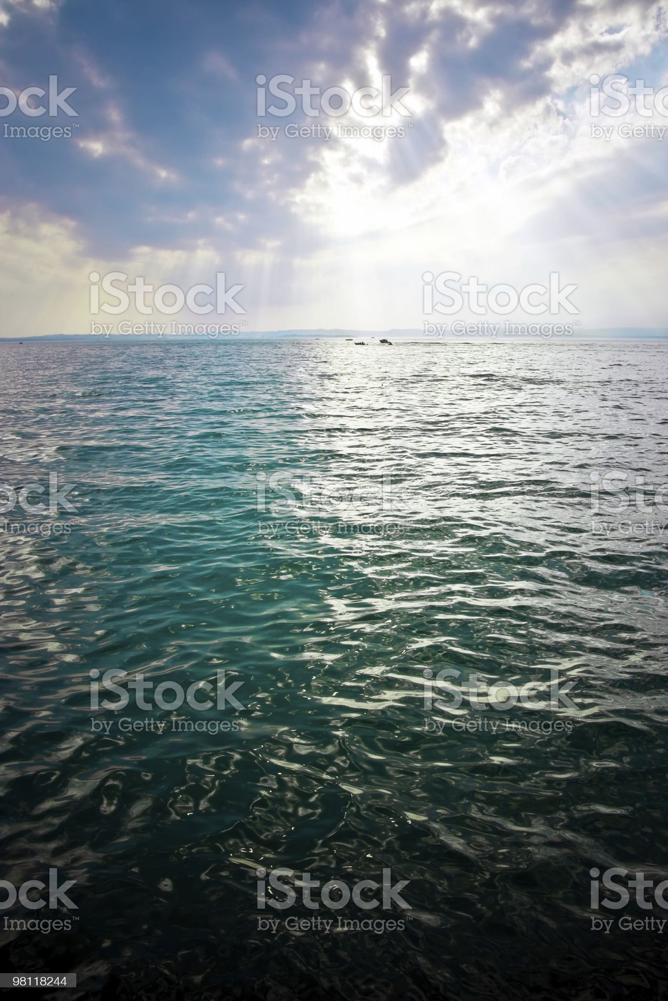 Storm over the sea royalty-free stock photo