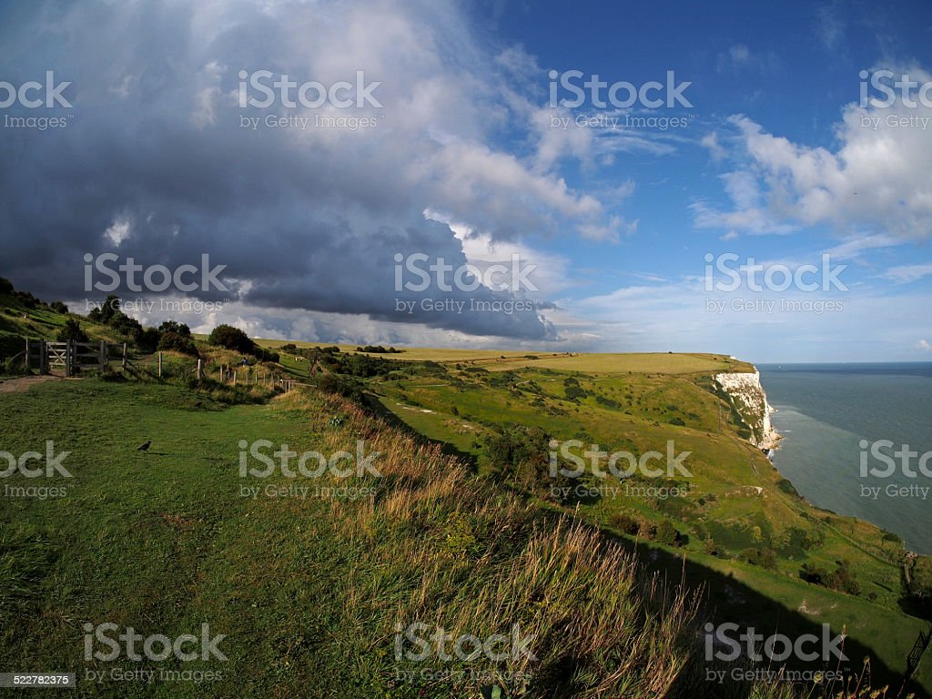 Storm Over the White Cliffs of Dover stock photo