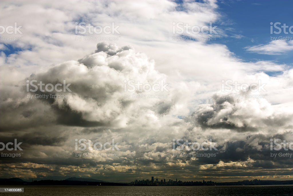 Storm over Vancouver royalty-free stock photo