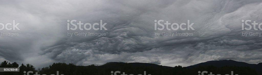Storm - panoramic stock photo