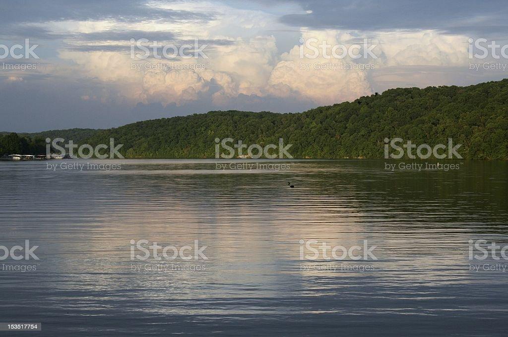 storm reflection stock photo