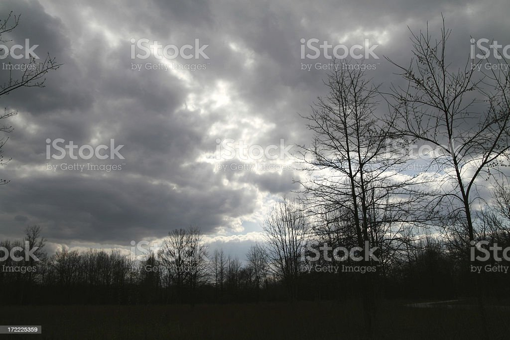 Storm Rolling In royalty-free stock photo