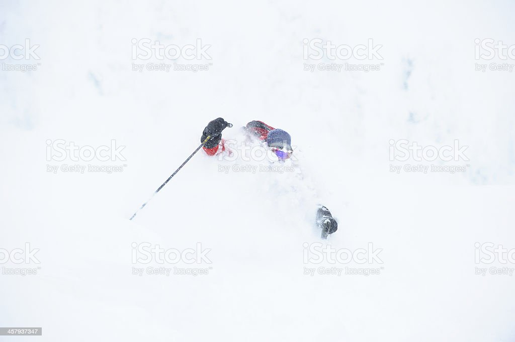 Storm skiing royalty-free stock photo