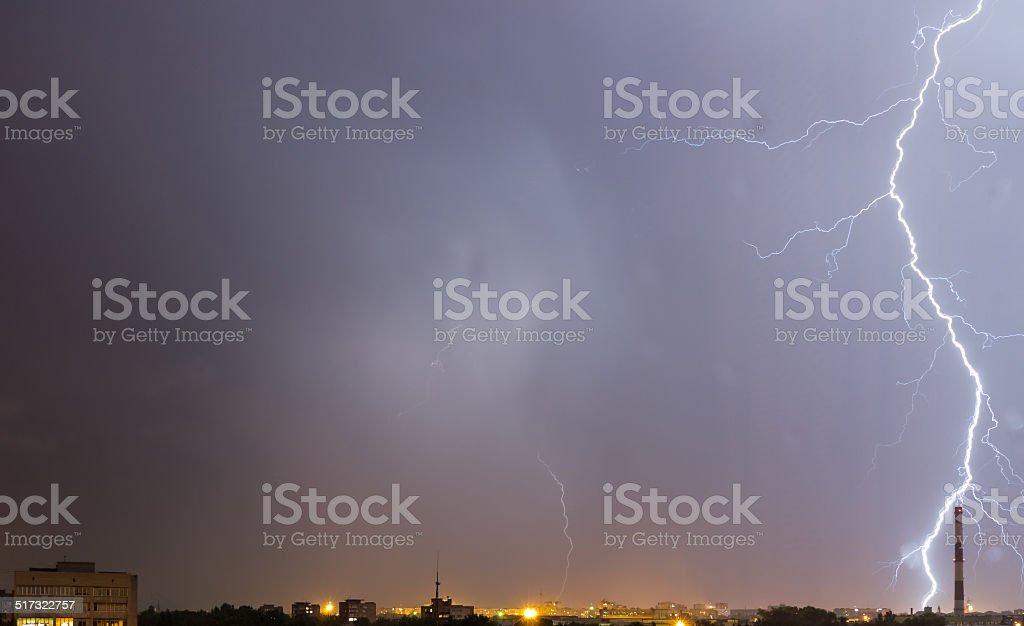 Storm sky. stock photo