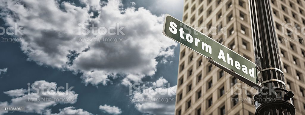 Storm street sign royalty-free stock photo