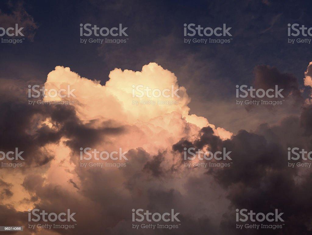 Storm Sunset royalty-free stock photo